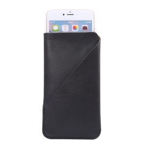 Elephant Skin Texture Leather Pouch Case for iPhone 6s Plus, Size: 168 x 90mm - Black