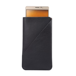 Elephant Skin Leather Pouch Case for Samsung A9/Huawei Mate8, Size: 170 x 95mm - Black