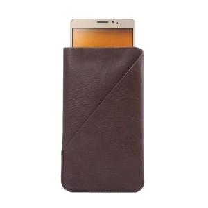 Elephant Skin PU Leather Pouch for Samsung A9/Huawei Mate8, Size: 170 x 95mm - Brown