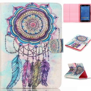 Universal Tablet Leather Protective Case for Samsung Galaxy Tab 4 7.0 T230 - Colorful Dream Catcher