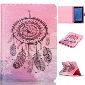 Universal Leather Wallet Case for iPad mini 4/3/2/1, Size: 200x130mm - Dream Catcher