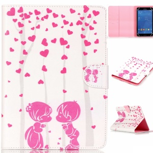 Universal Leather Wallet Cover for iPad mini 4/3/2/1, Size: 200x130mm - Sweet Lover