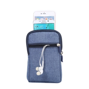 Universal Belt Clip Hook Loop Pouch Shell pour iPhone 6s Plus / Samsung Galaxy Mega 6.3 I9200 - Bleu
