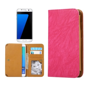 Universal Leather Wallet Cover for Samsung S7/iPhone 7 6s, Size: 151 x 76 x 10mm - Rose