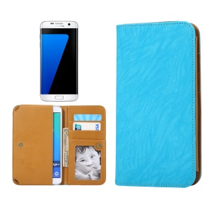 Universal PU Leather Case for Samsung S7/iPhone 7 6s, Size: 151 x 76 x 10mm - Blue