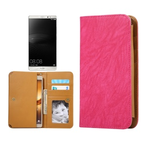 Universal PU Leather Cover for Samsung S7 Edge/iPhone 7 Plus/ 6s Plus, Size: 166 x 85 x 10mm - Rose