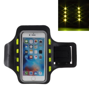 LED Flash Mobile Phone Sports Armband Pouch for iPhone 6s Plus/Samsung Galaxy A9 (2016) - Black