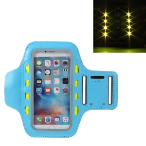 Universal LED Cell Phone Sports Armband Pouch for iPhone 6s Plus/Samsung Galaxy A9 (2016) - Baby Blue
