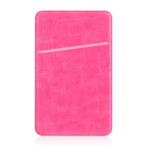 USAMS PU Leather Card Sticker Adhesive Holder for iPhone Samsung Huawei - Pink