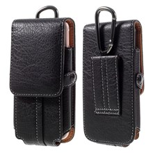 Outdoor Camping Hiking Card Holder Bag Pouch for iPhone 7 Plus/ 6s Plus, Size: 175x85x15mm - Black