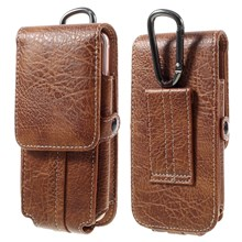 Outdoor Camping Hiking Card Holder Bag Pouch for iPhone 6s Plus, Size: 175x85x15mm - Brown