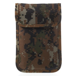 Fabric Camouflage Anti-radiation Signal Blocking Pouch Case for iPhone 7 6s 6 -  Brown