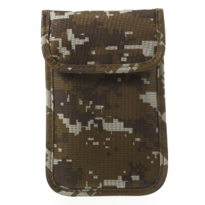 Fabric Camouflage Anti-radiation Signal Blocking Pouch Cover for iPhone 7 6s 6 - Khaki