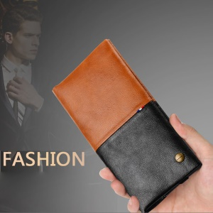 WUW Fashion Men Business Casual Wallet Leather Case for iPhone 6s Plus / Galaxy Note7 Etc, Size: 17 x 9cm