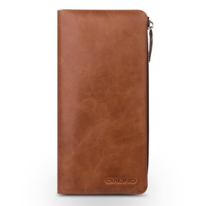 QIALINO Genuine Leather Wallet Pouch Cover for iPhone 8 Plus / 7 Plus/7 Samsung Note7 Etc - Brown