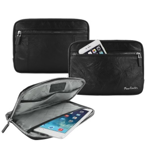 PIERRE CARDIN Genuine Leather Sleeve Case Carry Bag for iPad Mini, Size: 240 x 169 x 17.8mm