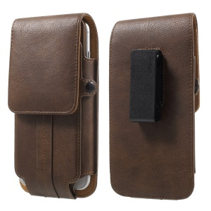 Card Holder Belt Clip Leather Holster for iPhone 7/ Sony Z5 Compact, Size: 140 x 70 x 11mm - Brown