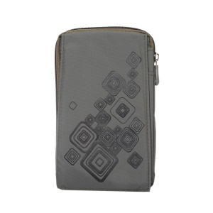 Patterned 6.4-inch 3 Pockets Splash-proof Casual Pouch Bag Case for Samsung Galaxy Note 8, Keys, Earphones Etc - Grey