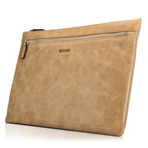 ICARER Shenzhou Series Cowhide Leather Sleeve Bag for Macbook Pro 13.3 Inch, Size: 365x245x12mm