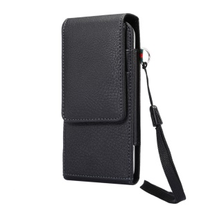 Litchi Grain Leather Belt Clip Vertical Holster Case for Samsung S7 Edge, Size: 16 x 7.8 x 1.8cm - Black