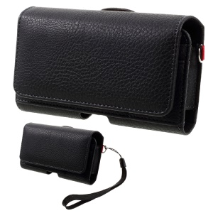 Litchi Texture PU Leather Pouch Case Holster with Belt Clip for iPhone 6s/Samsung Galaxy S4, Size: 140 x 80 x 30mm