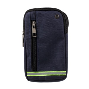 Multi-pocket Outdoor Camping Hiking Mini Waist Bag with Lanyard for iPhone 7 Plus etc. Size: 19x11.5x2cm - Dark Blue