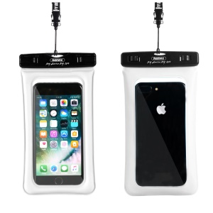 REMAX 20M Universal Waterproof Bag Diving Pouch for iPhone Huawei Samsung Etc - White