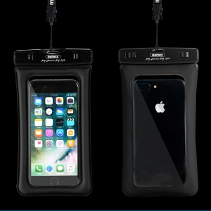 REMAX Universal 20M Waterproof Bag Diving Pouch for iPhone Huawei Samsung Etc - Black