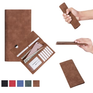 Universal PU Leather Wallet Phone Pouch for iPhone 8 Plus/7 Plus, Huawei P10 Plus, Inner Size: 18.5 x 8cm - Brown