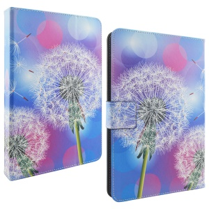 Universal Stand Leather Wallet Cover for Galaxy Tab 3 7.0 Size: 195 x 125mm - Dandelion and Colorful Halos