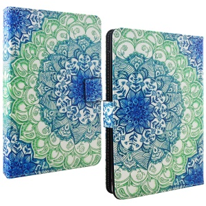 Universal Stand Leather Wallet Cover Case for Samsung Galaxy Tab 3 7.0 Etc, Size: 195 x 125mm - Mandala Flower