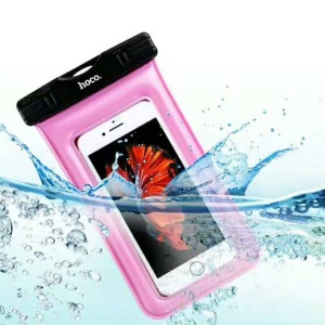 HOCO Universal 20M Waterproof Bag Diving Pouch for iPhone Huawei Samsung Etc (Airbag Model) - Black