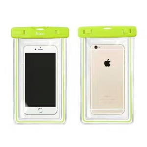 HOCO Universal 20M Noctilucent Waterproof Bag Diving Pouch for iPhone Huawei Samsung Etc (Noctilucence Model) - Green