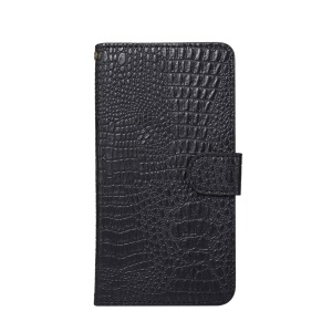 Crocodile Texture Universal Wallet Leather Flip Case with 360 Degree Rotary Clip for iPhone X / Samsung S7, Size: 7.5x14.5x1.8cm - Black
