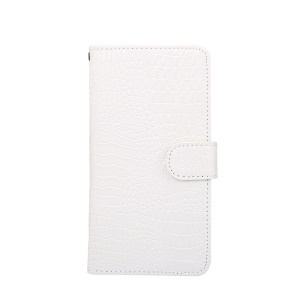 Crocodile Texture Universal Wallet Leather Mobile Shell with 360 Degree Rotary Clip for Samsung Galaxy S7 Size: 7.5x14.5x1.8cm - White