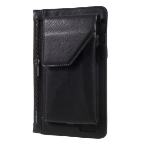 6.3 inch Multi-function Belt Clip Hook Loop Pouch Case for iPhone 7 Plus/Samsung Galaxy S8 Plus - Black