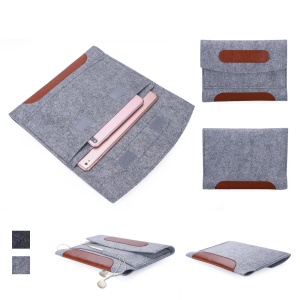 Universal Sleeve Bag Felt Pouch Bag with Velcro Closure for iPad Pro 10.5 inch (2017) etc. - Light Grey