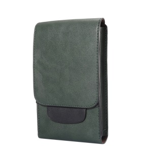Crazy Horse Leather Holster Case with Card Slots for iPhone 8 Plus/7 Plus / Samsung Galaxy S9+/S8+ Size: 17x10x2.5cm - Green