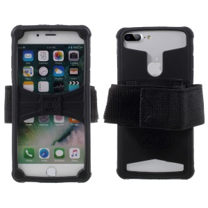 Adjustable Gym Sports Silicone Armband Case for Phone 5.0-5.2 inch - Black