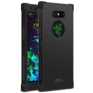 IMAK Skin Feel Airbag Shockproof TPU Shell + Screen Protector Film for Razer Phone 2 - Metal Black