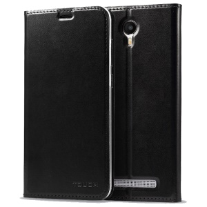 UMI OEM PU Leather Phone Protective Case for UMI Touch - Black