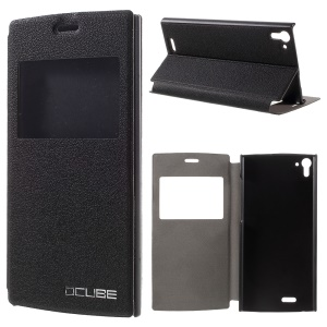 OCUBE Window View Stand Leather Case Cover for UMI Zero - Black