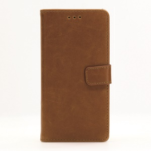 For Docomo Arrows SV F-03H Retro Crazy Horse Stand Wallet Leather Case - Brown