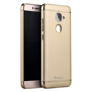 IPAKY Stylish Form-fitting Plastic Hard Phone Cover for LeTV Le 2/Le 2 Pro - Gold