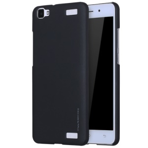 X-LEVEL Metallic Plastic Hard Phone Case for Vivo Y37 - Black