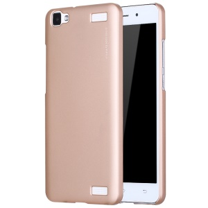 X-LEVEL Metallic Back Case PC Phone Cover for Vivo Y37 - Gold