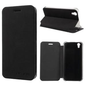 Flip Stand Leather Phone Case for UMI London - Black