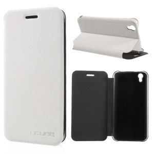 Flip Stand Leather Phone Cover for UMI London - White