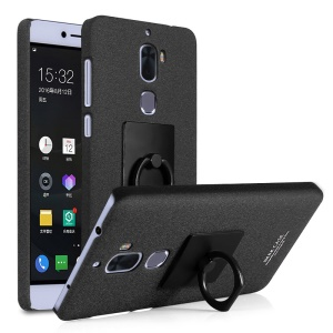IMAK Matte Hard PC Case with Ring Kickstand for LeEco Cool1 dual - Black