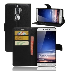 Litchi Texture Wallet Stand Leather Mobile Case for LeEco Cool1 dual - Black